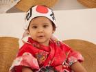 Aline Barros prepara festa de um ano para filha, que posa 'de japonesa'