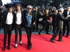 Integrantes do Rolling Stones vão à première do documentário da banda