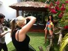Modelos do Miss Bumbum posam para  a 'Playboy' americana. Veja os bastidores!