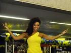Futura rainha de bateria da Unidos da Tijuca, Juliana Alves vai à quadra