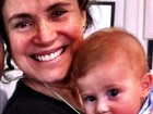 Avó babona: Regina Duarte posta foto com o neto