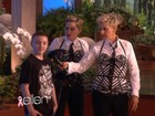 Madonna faz filho pagar mico em programa