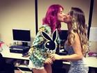 Thaís Bianca dá selinho em Narizinho e diz que vai posar na 'Playboy'