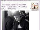 Solteiro? Justin Bieber posta mensagem misteriosa em rede social