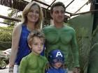 Angélica e Luciano Huck comemoram aniversário do filho Benício