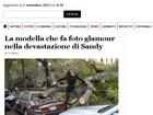 Fotos de Nana Gouvêa em Nova York viram notícia em sites internacionais