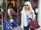 Mães de Miley Cyrus e Justin Bieber se encontram em Los Angeles