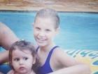 Carolinie Figueiredo posta foto da infância
