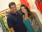 Maurício Mattar leva a filha a inauguração de loja