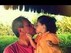 Jayme Monjardim paparica a filha Maysa