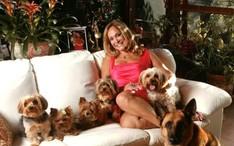 Susana Vieira com os cachorros (Foto: Divulgação/Revista Contigo)