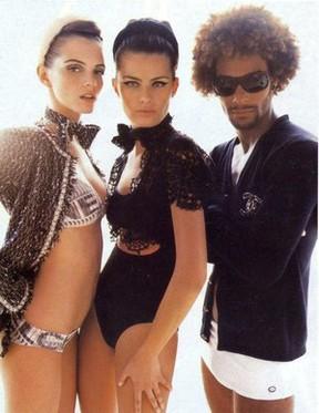 Daniel e Isabelli Fontana em foto para a Vogue feita por Mario Testino (Foto: Reprodução/Reprodução)