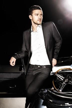 Justin Timberlake posa para campanha de perfume (Foto: Divulgação)