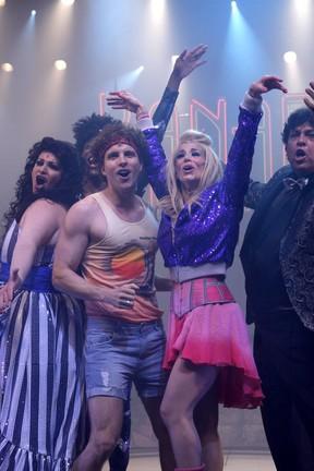 Danielle Winits e Thiago Fragosos em cena no musical 'Xanadu' (Foto: Ag News/ Felipe Panfili)