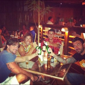 Mauricio, Rodrigo e Cristiano, ex-BBBs (Foto: Twitter/Reprodução)