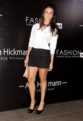 Lizzi Benites em evento de moda em São Paulo (Foto: Milene Cardoso/ Ag. News)