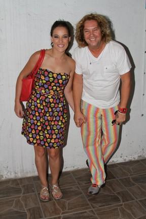 Adriana Birolli em festa de 'Fina Estampa' no Rio (Foto: Cleyton Militão/ Photo Rio News)