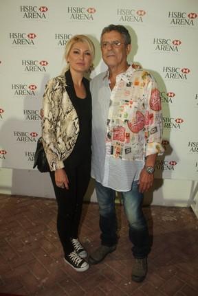Antônia Fontenelle e Marcos Paulo em show de Joe Cocker no Rio (Foto: Fábio Martins/ Ag. News)