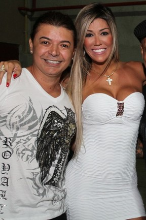 David Brazil e Fernanda Gir&#227;o, desistente do &#8216;BBB 12&#8217;, vai a show de Preta Gil no Rio (Foto: Anderson Borde/ Ag. News)