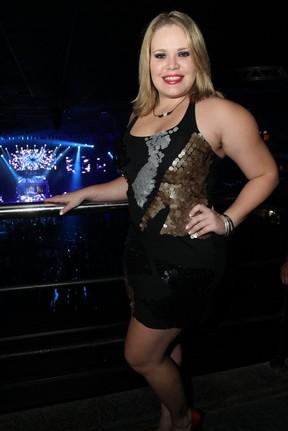 Ex-BBB Paulinha curte show no Rio (Foto: Anderson Borde/ Ag. News)