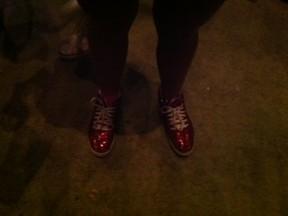 Detalhe do sapato de Giulia (Foto: Tatiana Regadas/ EGO)