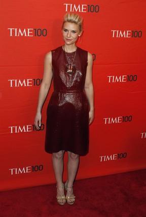 Claire Danes vai a evento de gala da revista 'Time' em Nova York, nos Estados Unidos (Foto: Reuters/ Agência)