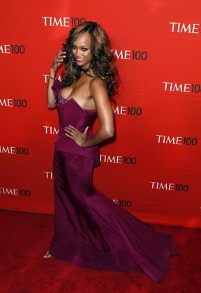 Tyra Banks vai a evento de gala da revista 'Time' em Nova York, nos Estados Unidos (Foto: Reuters/ Agência)