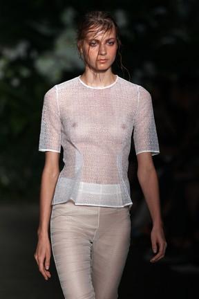 Modelo em semana de moda em Sydney, na Austrália (Foto: Getty Images/ Agência)