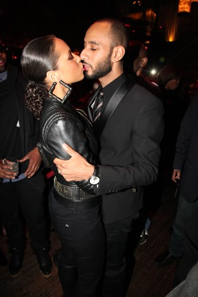 Alicia Keys e o marido Swizz Beatz em evento em Nova York, nos Estados Unidos (Foto: Getty Images/ Agência)