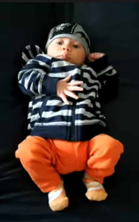 Filho Robert Downey Jr, Exton Elias (Foto: Reprodução/NBC)