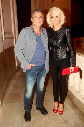 Marcos Paulo e Antônia Fontenelle em prêmio de teatro no Rio (Foto: Felipe Assumpção e Alex Palarea/ Ag. News)