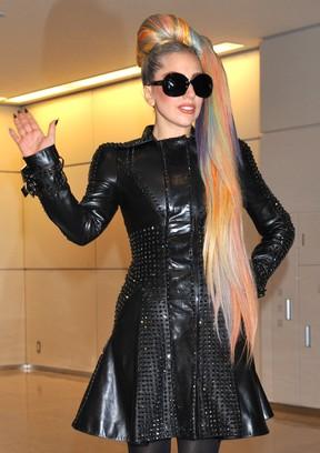 Lady Gaga na cidade de Narita, no Japão (Foto: AFP/ Agência)