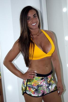 Nicole Bahls posa com roupa de ginástica (Foto: Graça Paes/ Divulgação)