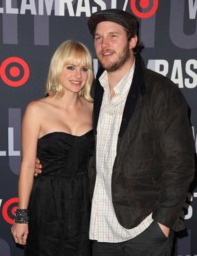 Anna Faris e o marido, o ator Chris Pratt (Foto: Agência Getty Images)