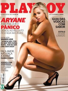 """Capa da Playboy Romena é """"inspirada"""" na capa da Playboy Aryane Steinkopf (Foto: Divulgação)"""