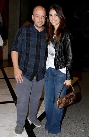 Chris Flores e o marido, Ricardo Côrrea (Foto: Ag. News)