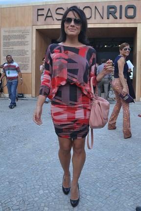 Juliana Knust no Fashion Rio (Foto: Roberto Teixeira / EGO)