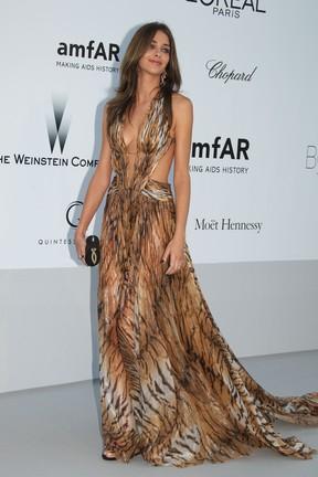 Ana Beatriz Barros no baile da amfAr em Cannes, na França (Foto: Getty Images/ Agência)