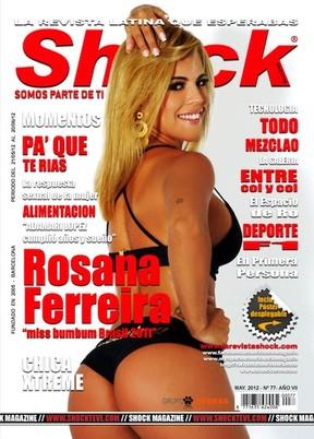 Miss Bumbum Rosana Ferreira posa para revista espanhola (Foto: Divulgação)