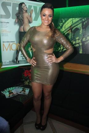 Ex-BBB Monique lança revista no Rio (Foto: Thyago Andrade/ Photo Rio News)