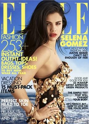 Selena Gomez na 'Elle' de julho (Foto: Reprodução)