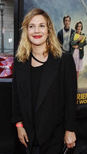 Drew Barrymore em première de filme em Los Angeles, nos Estados Unidos (Foto: Reuters/ Agência)