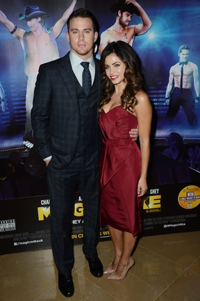 Channing Tatum and Jenna Dewan na première de 'Magic Mike' em Londres, na Inglaterra (Foto: Getty Images/ Agência)