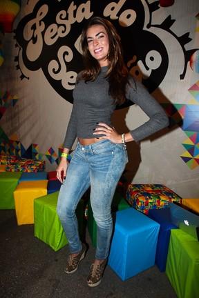 Panicat Renata Molinaro em festa em São Paulo (Foto: Manuela Scarpa/ Foto Rio News)