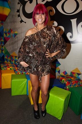 A panicat Thais Bianca em festa em São Paulo (Foto: Manuela Scarpa/ Foto Rio News)