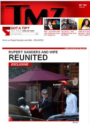Rupert Sanders e Liberty Ross (Foto: TMZ / Reprodução)