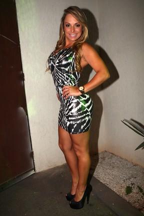 Jéssica Lopes, a Peladona de Congonhas, vai a lançamento da Sexy (Foto: Iwi Onodera/ EGO)