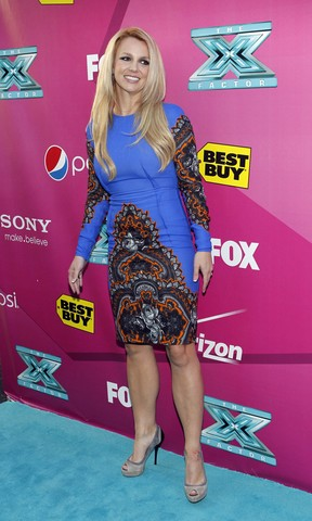Britney Spears na première do reality show musical 'The X Factor' em Hollywood, nos Estados Unidos (Foto: Mario Anzuoni/ Reuters/ Agência)