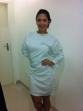 Graciella Carvalho após passar por cirurgia íntima (Foto: Divulgação / CO Assessoria)