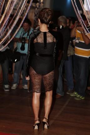 Nanda Costa em festa de 'Salve Jorge' (Foto: Isac Luz/ EGO)